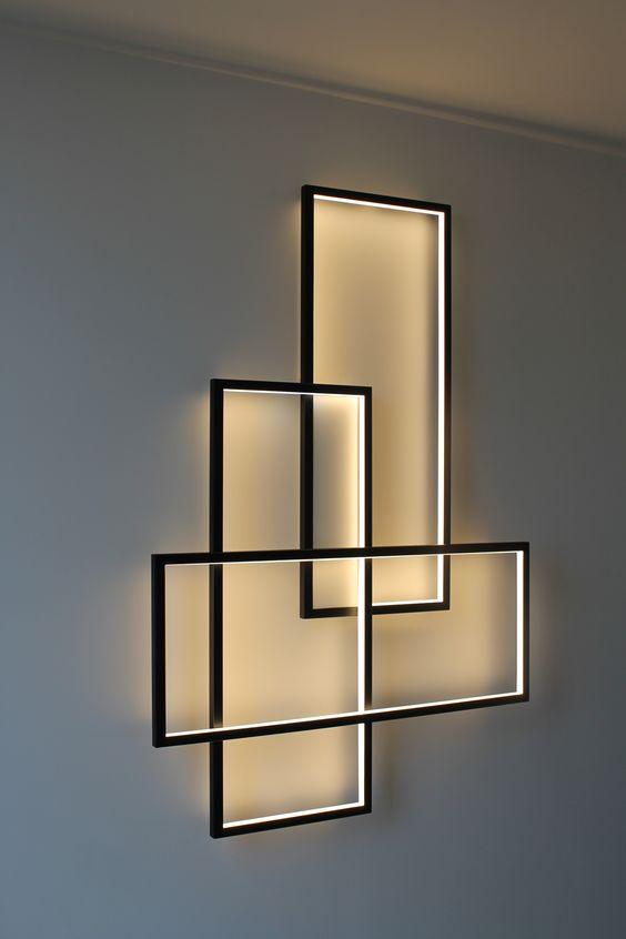 Luces LED con forma geométrica