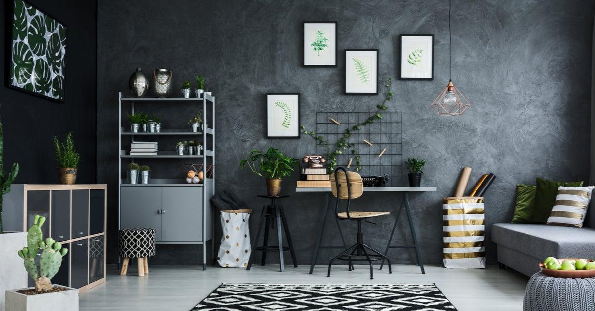 Salón dividido por ambientes