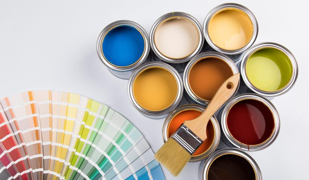 Tipos de pinturas por colores.
