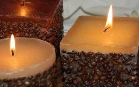 Velas con aroma de café