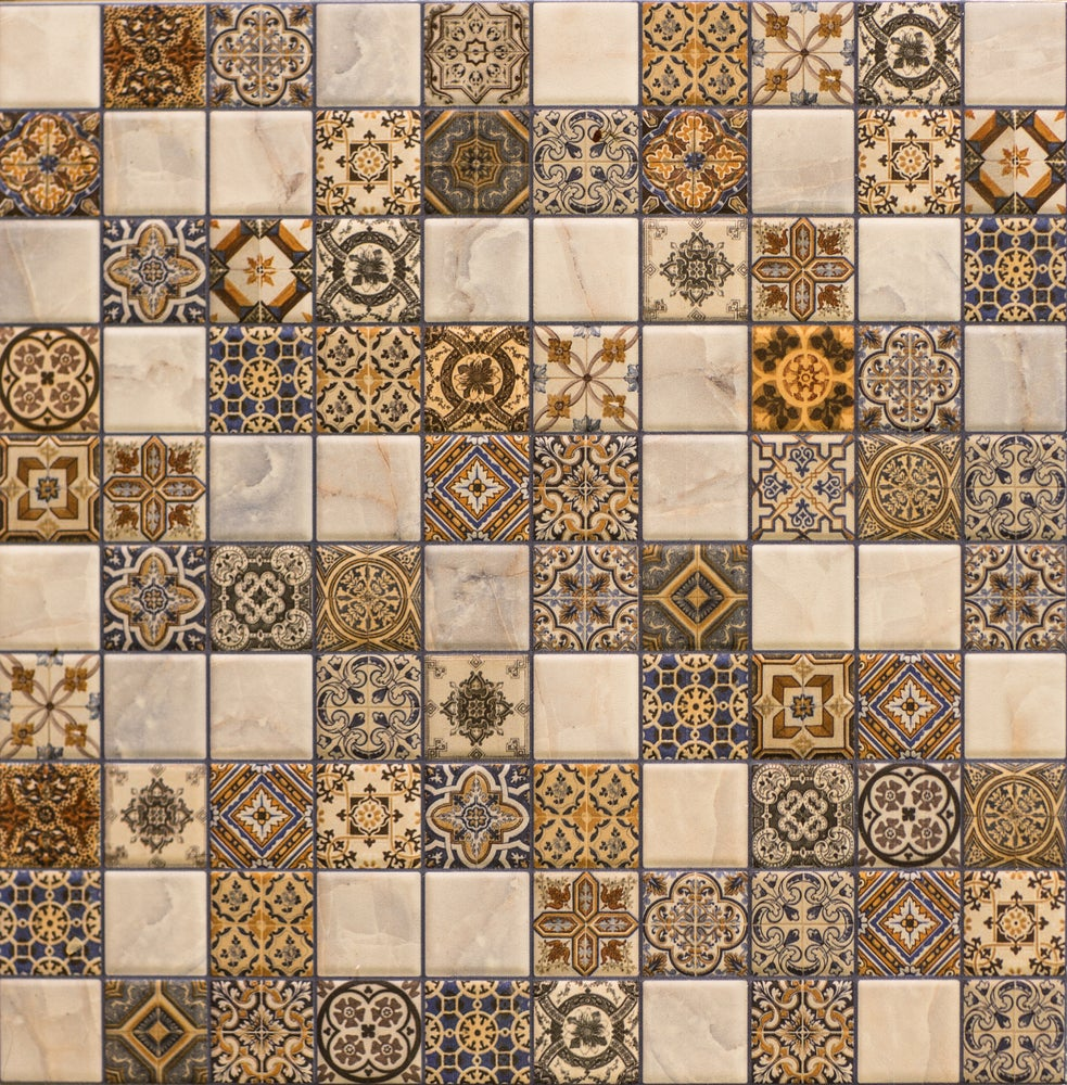 Azulejos hidraúlicos para suelo o pared de distintos mosáicos