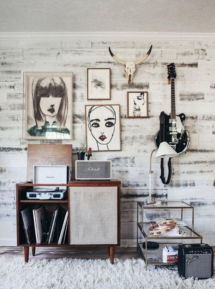 Cuadros,vinilos, guitarra decoración Urban Style
