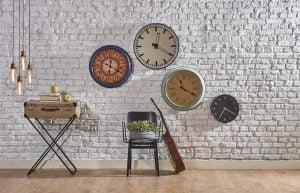 Distintos modelos de relojes de pared