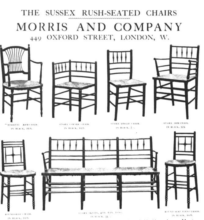 Catálogo de muebles diseñados por Morris and Co