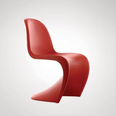 Silla panton de plástico rojo