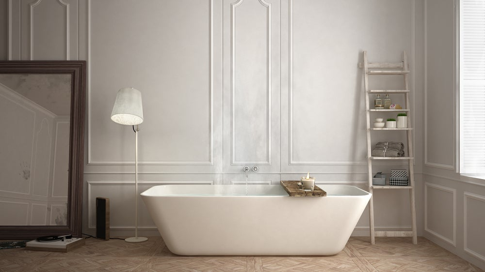 Bañera de acrílico.