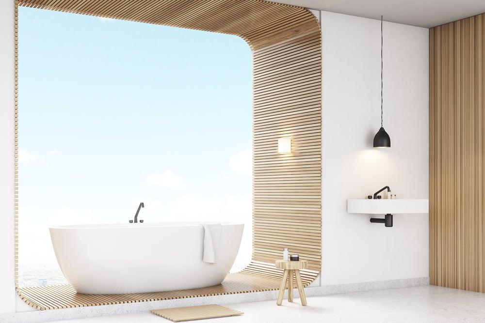 Bañera de líneas curvas.