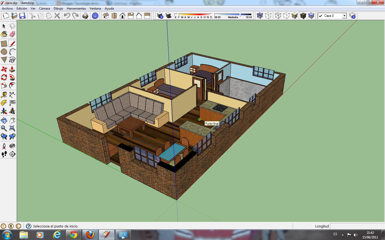Ejemplo de casa diseñada con el programa Sketchup