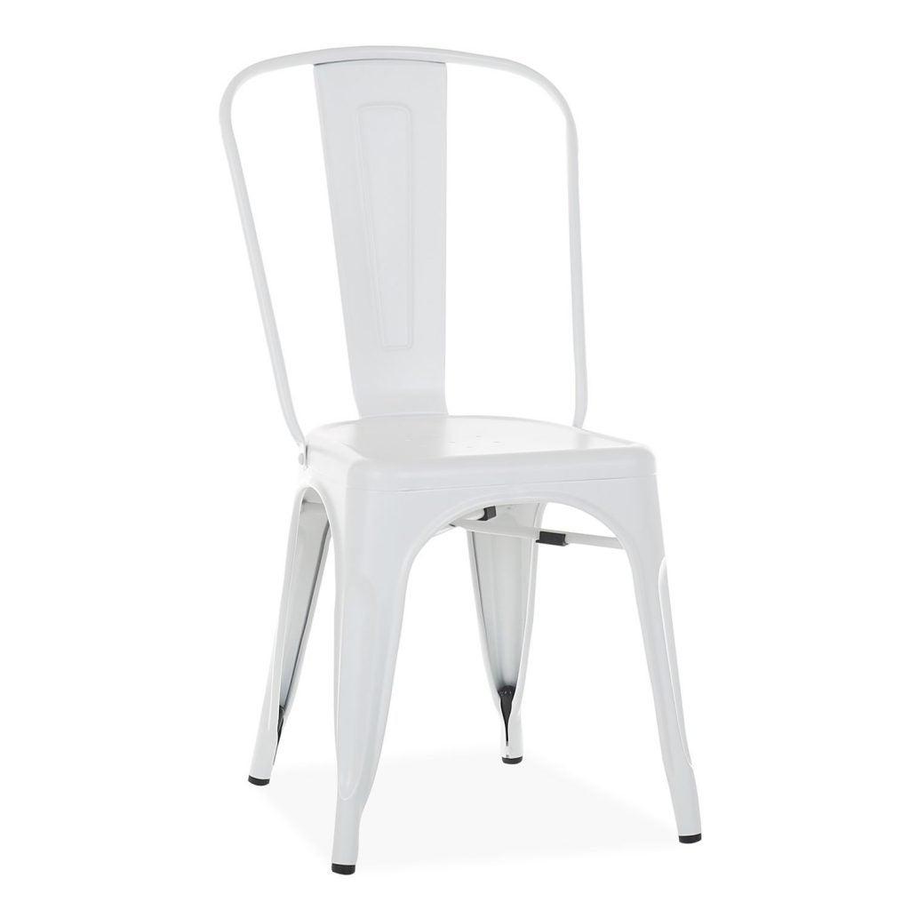 Decorar con silla Tolix en blanco.