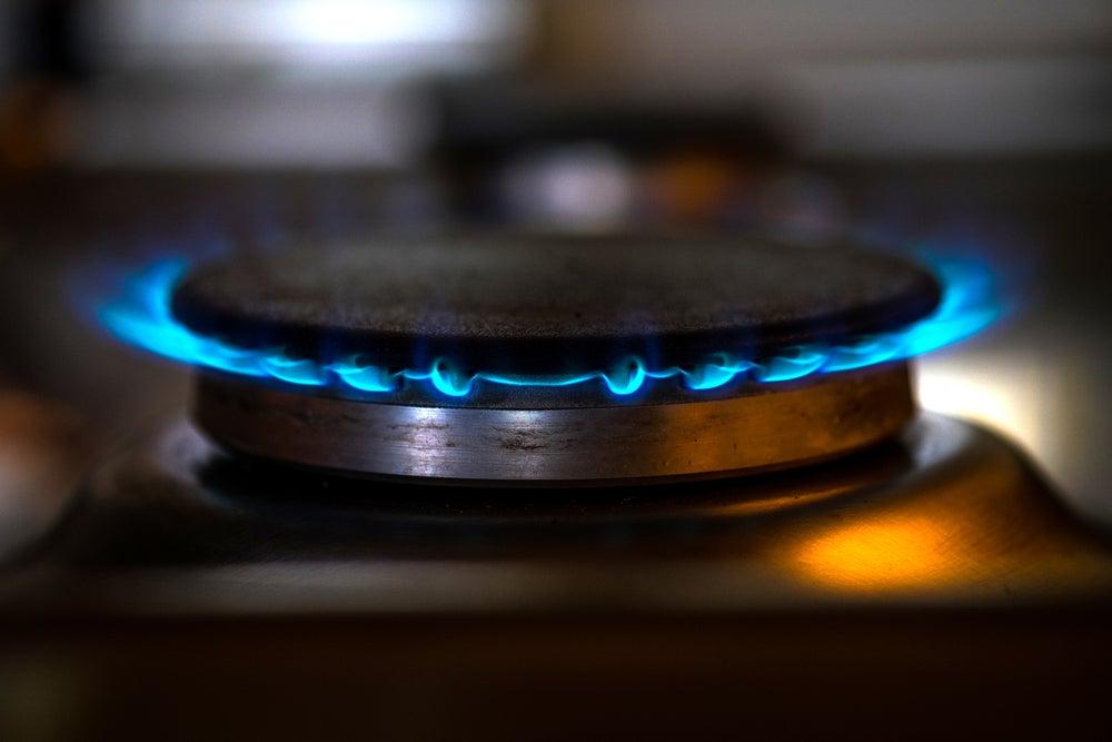 Placa de gas butano para cocina.