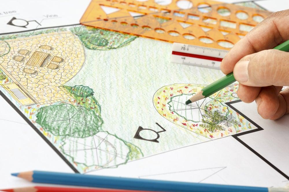 Plano para decorar y diseñar tu jardín.