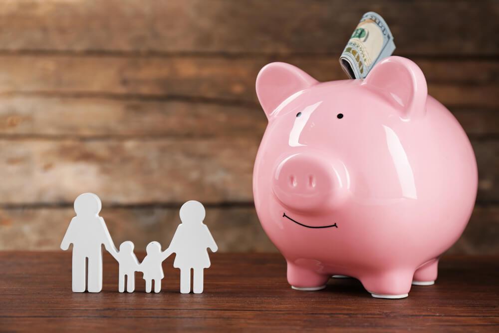 Presupuesto de dinero de una familia.