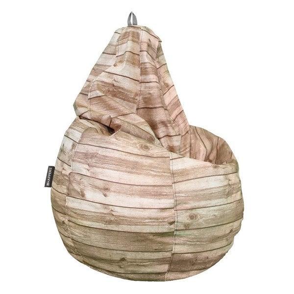 Puff con forma de pera.