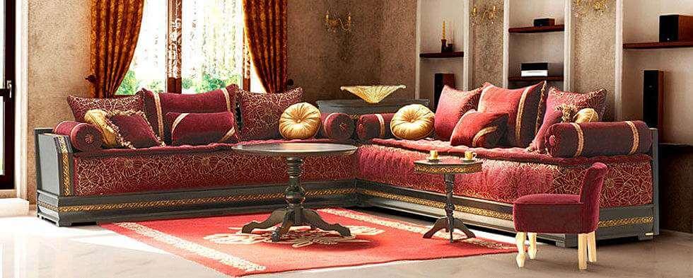 Salón de estilo marroquí.
