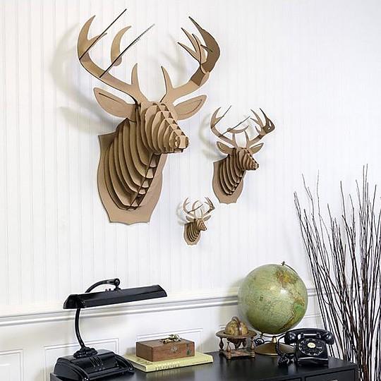 Bustos de animales de cartón para decorar.