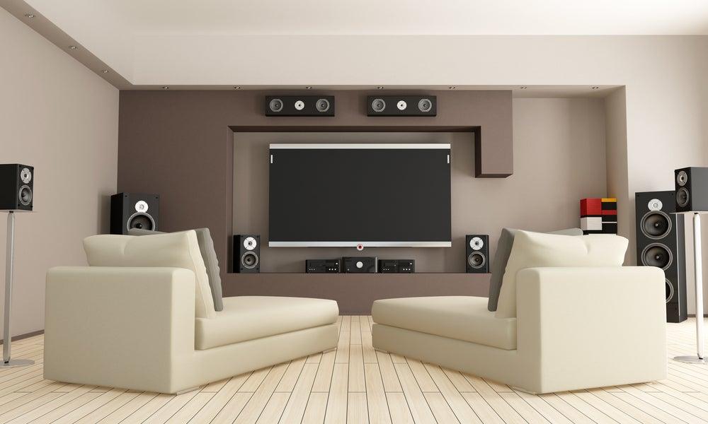 Equipo de sonido para cine en casa.