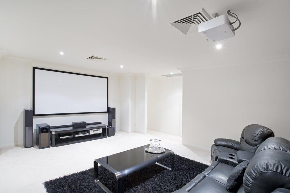 Proyector para cine en casa.