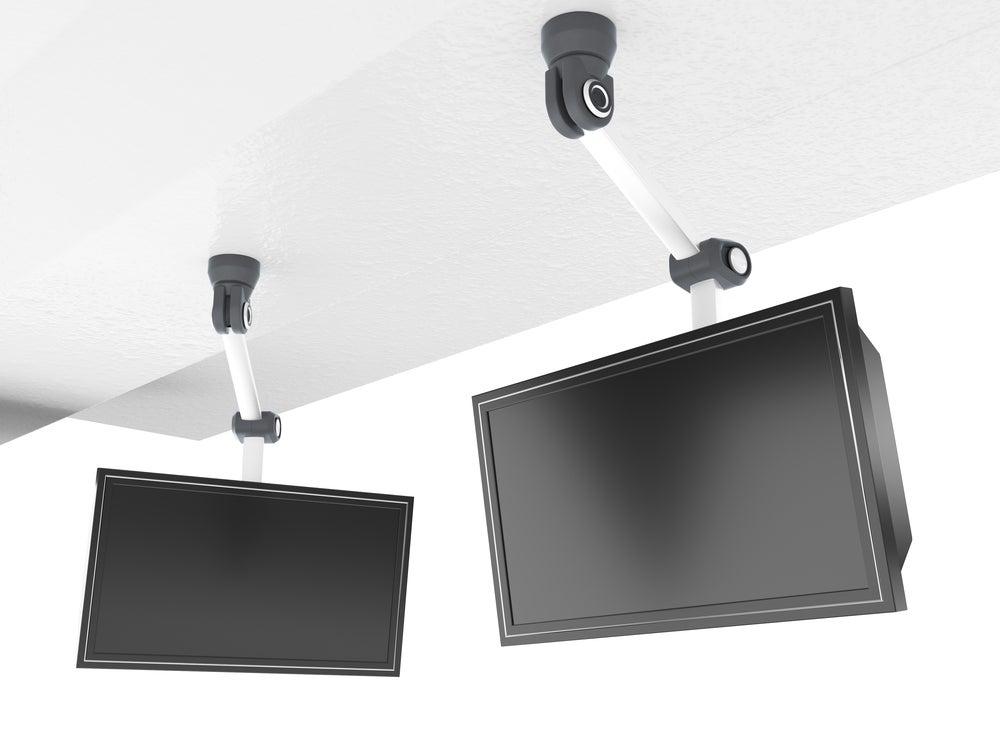 Soporte de TV para el techo.