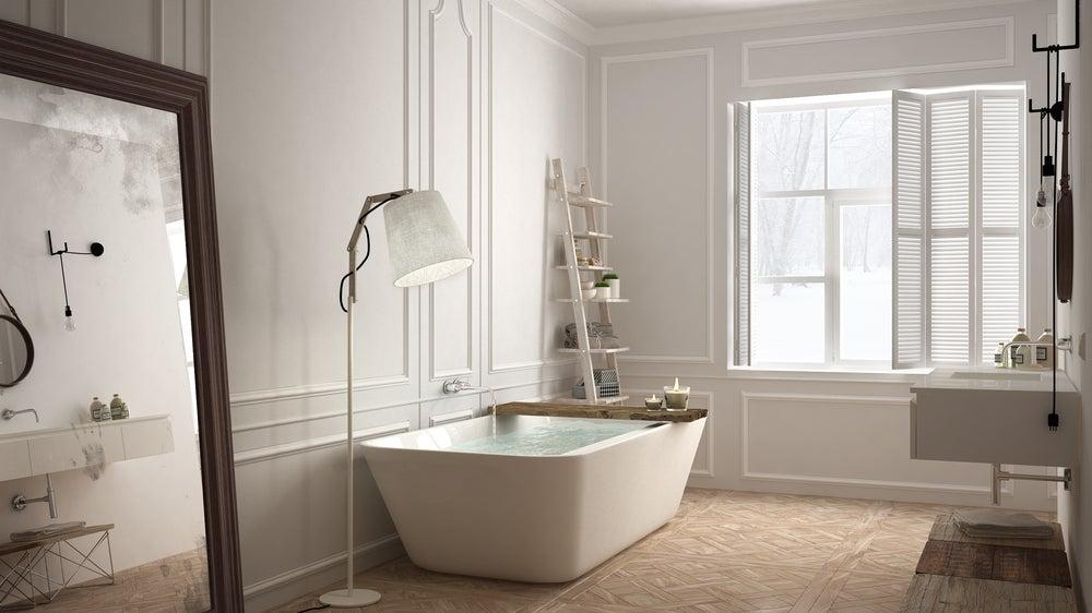 Baño minimalista.