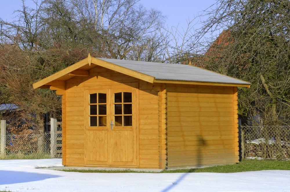 Caseta de madera para el jardín.