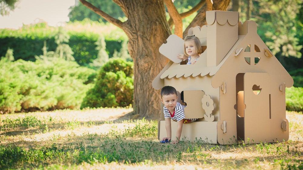 Caseta para niños para el jardín.