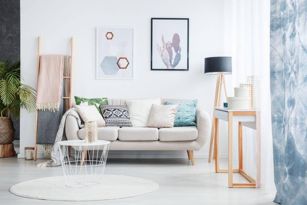 5 ideas de salones para pisos pequeños