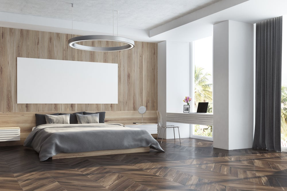 Dormitorio minimalista.