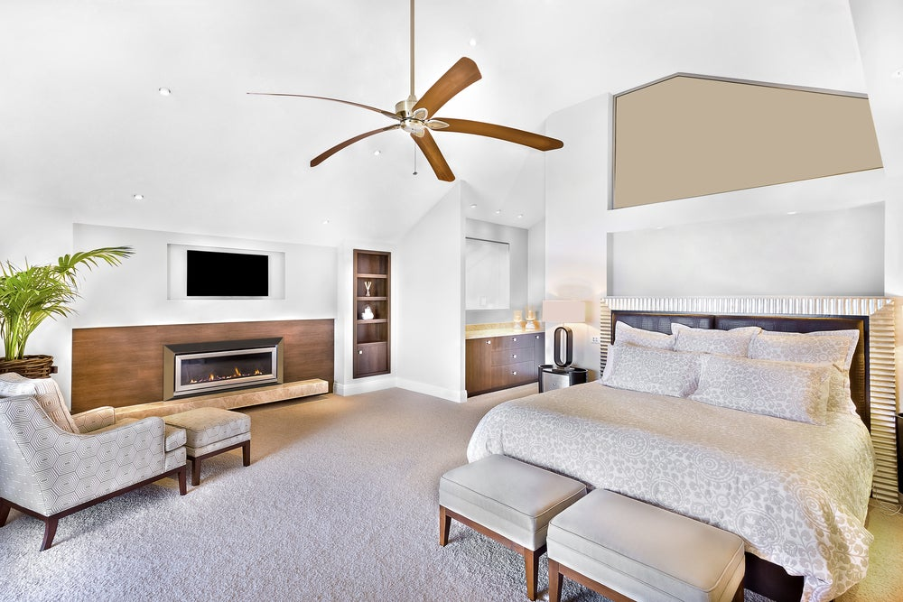 Ventilador de techo para dormitorio.