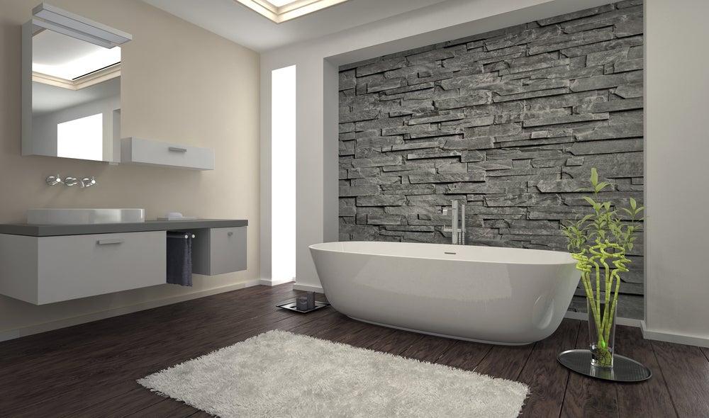 Azulejo de piedra natural para el baño.