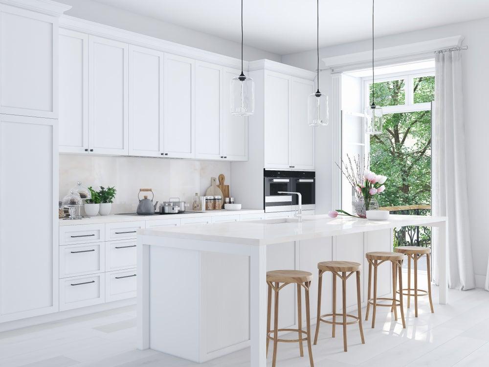 Azulejos y pavimento iguales para la cocina.