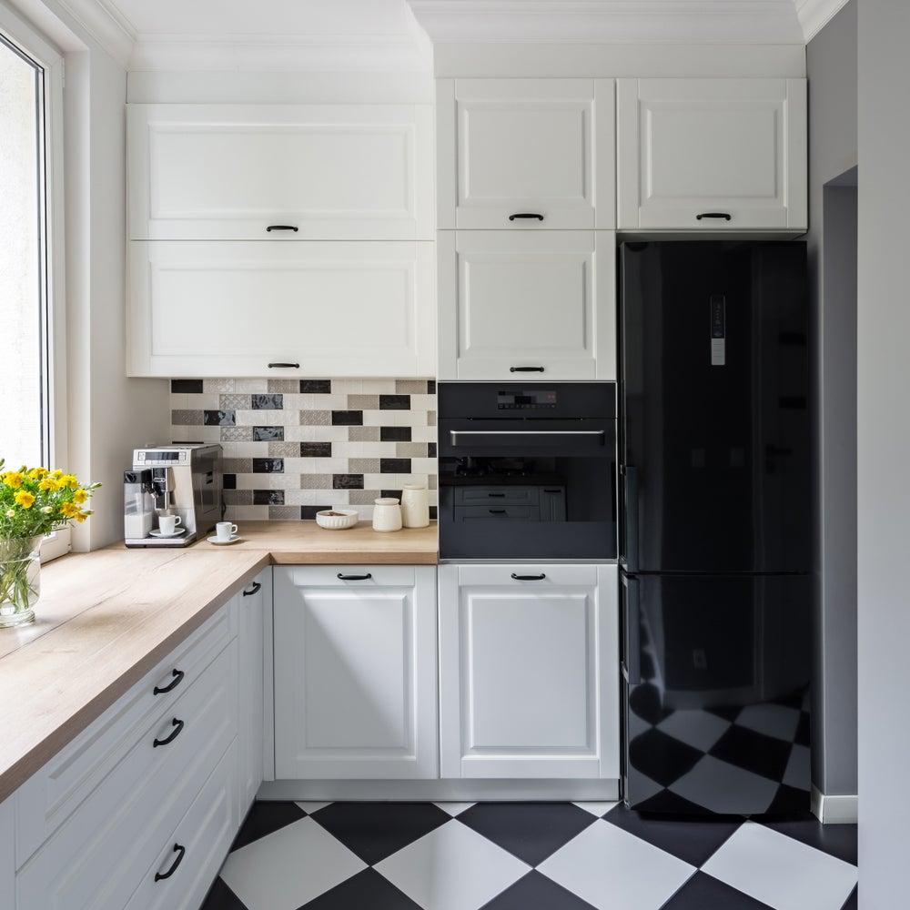Cocinas pequeas modernas simple ideas de colores para for Modelos de muebles de cocina pequenas
