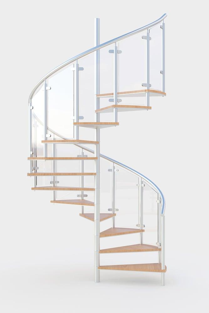 Escalera de caracol de cristal.