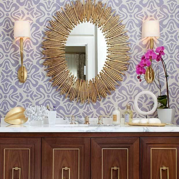 Espejos de sol para el baño.