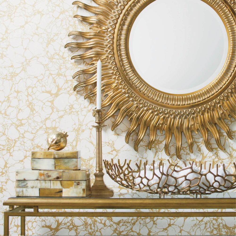 Espejo de sol en el salón.