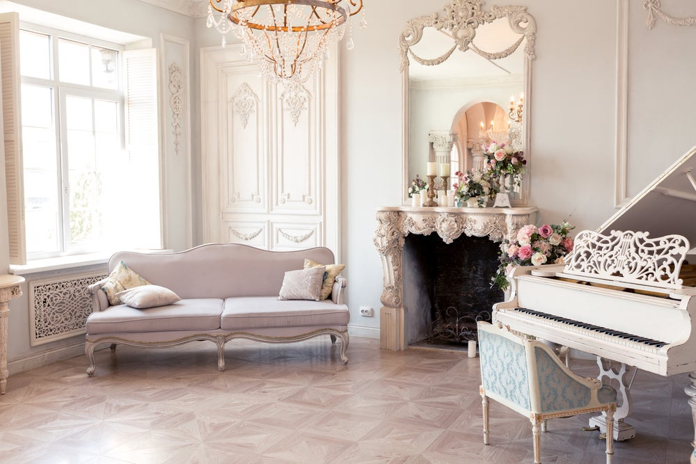 Shabby chic with flowers