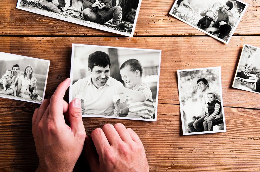 Foto de padre e hijo.