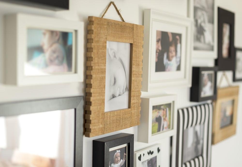 Mosaico de fotos familiares.