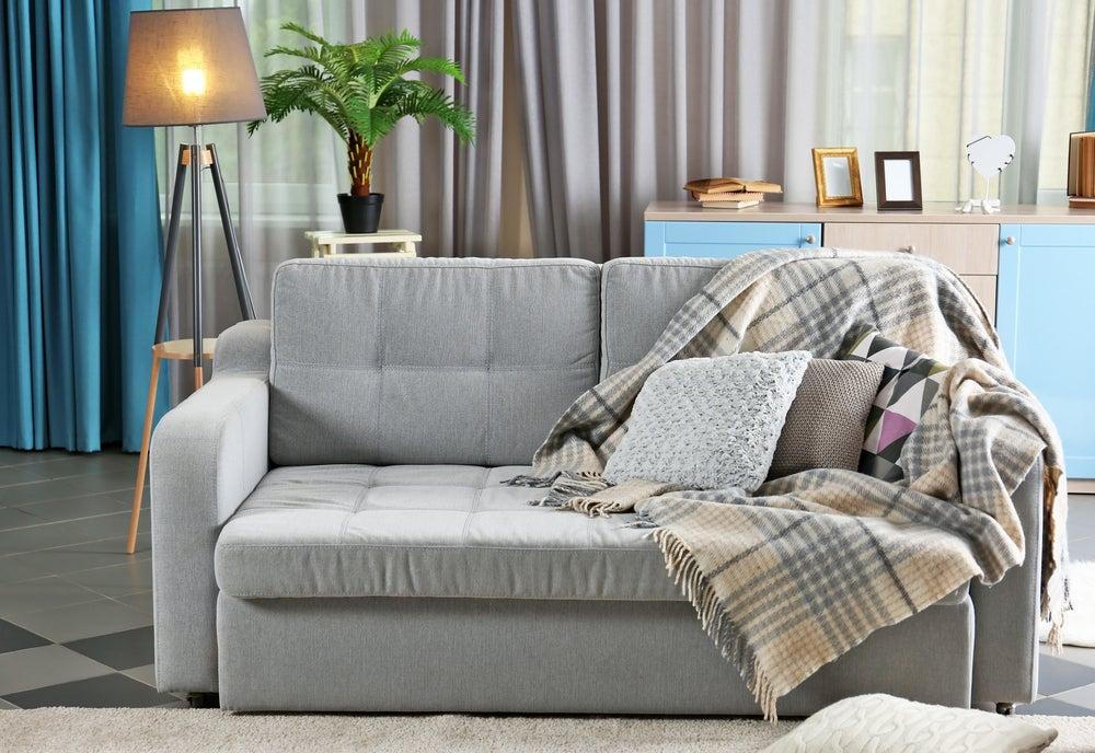 Plaid para el sofá.