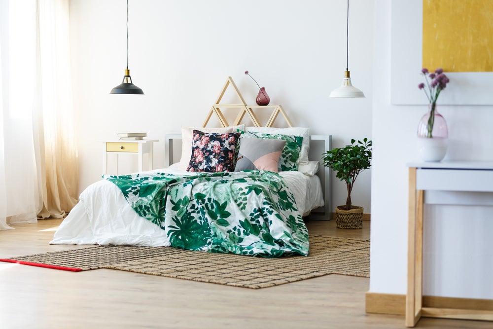 5 ideas de colchas con motivos florales
