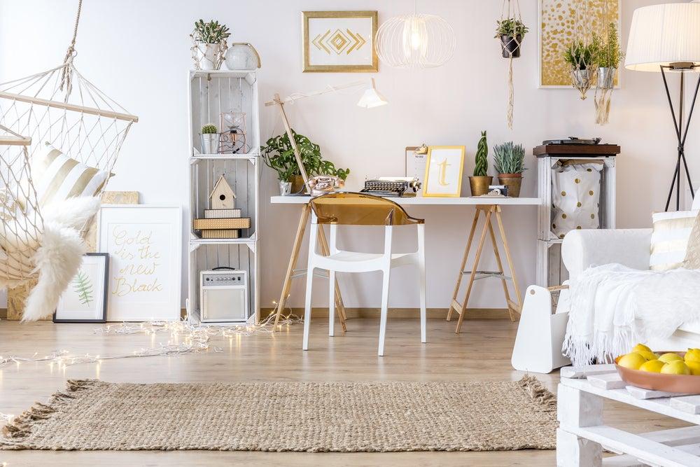 Colores tierra y blancos del estilo Slow Design.