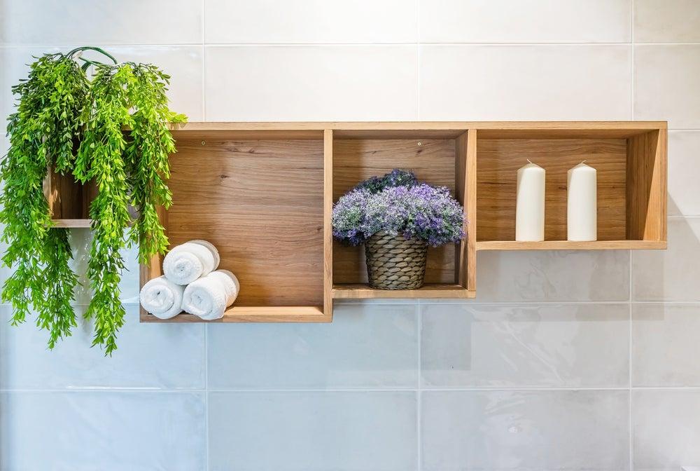 Decoración baño minimalista.