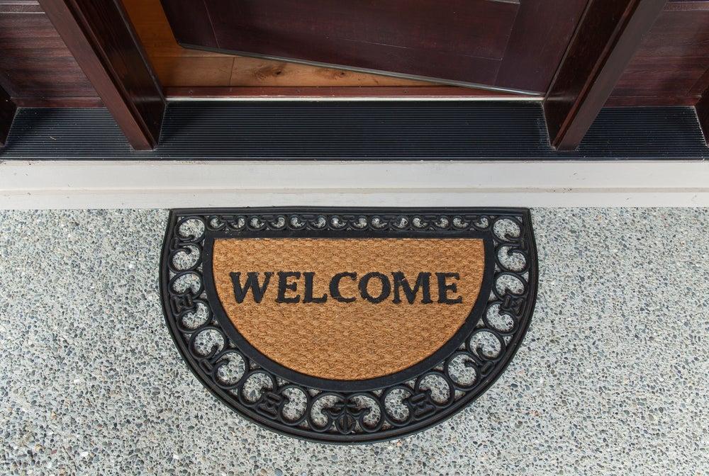 Felpudo welcome.