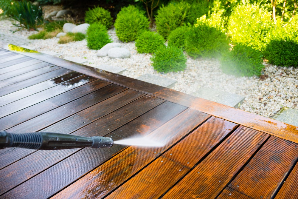 Limpiar la terraza.