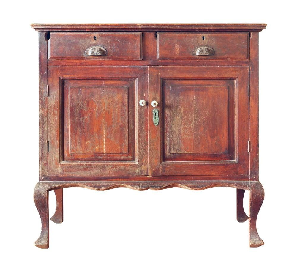 Mueble de madera vintage.