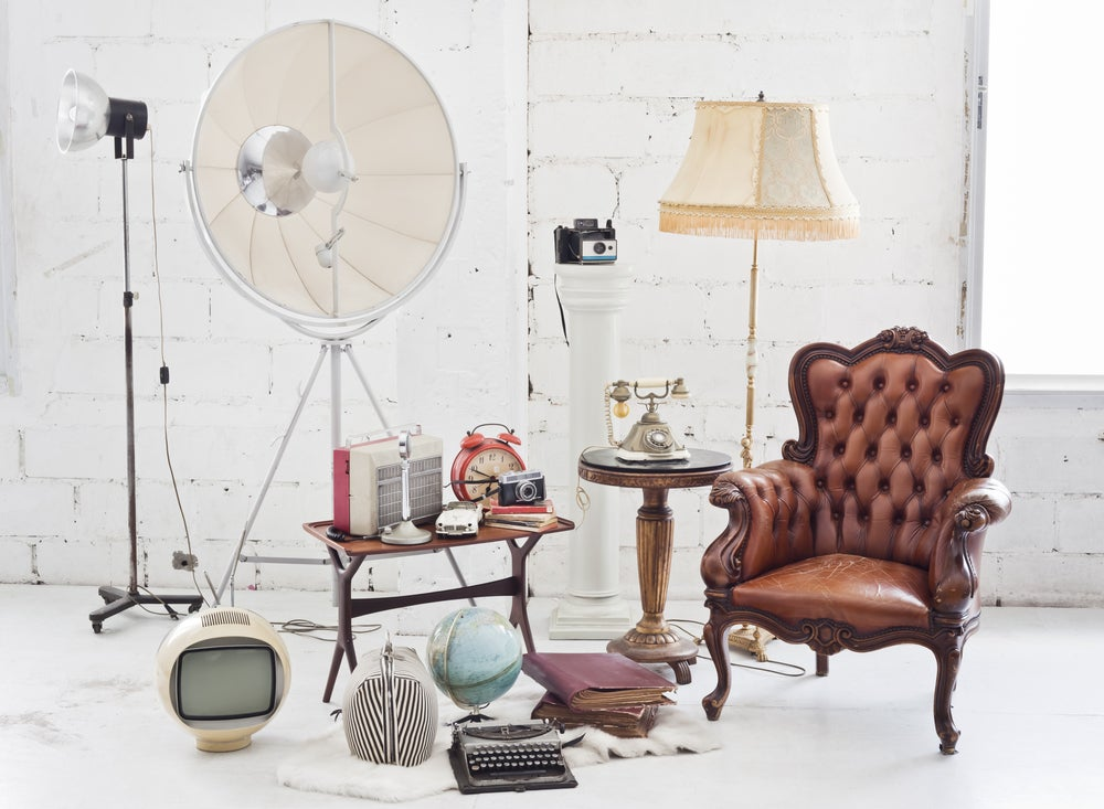 4 muebles vintage para el salón