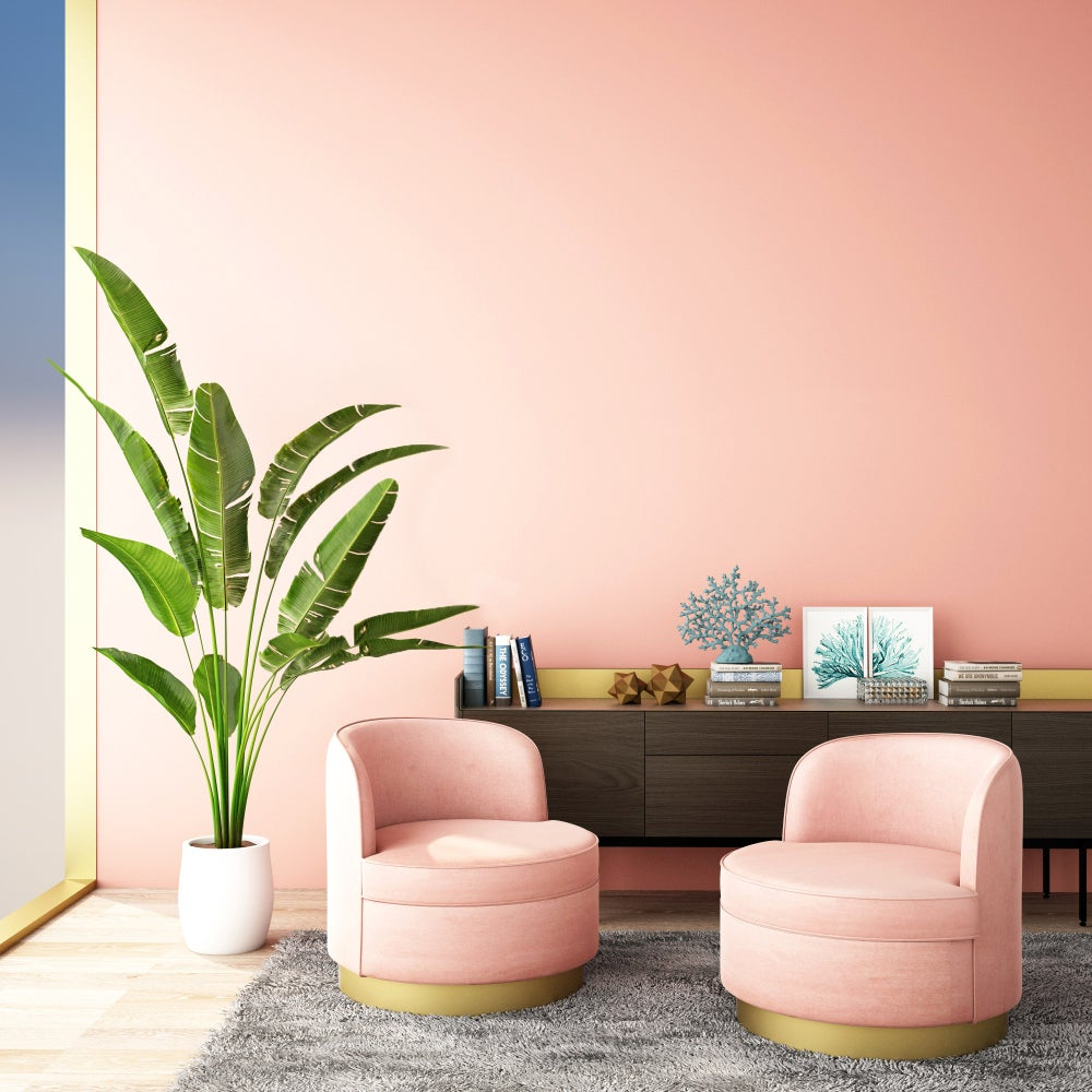 Pintura rosa para el salón.