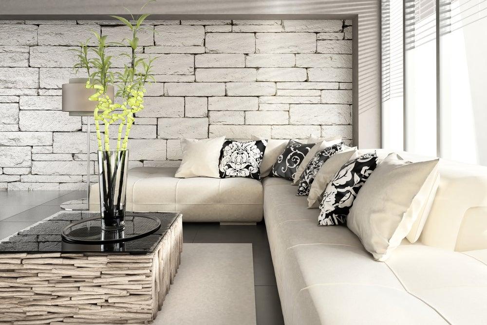 Salón con bambú.