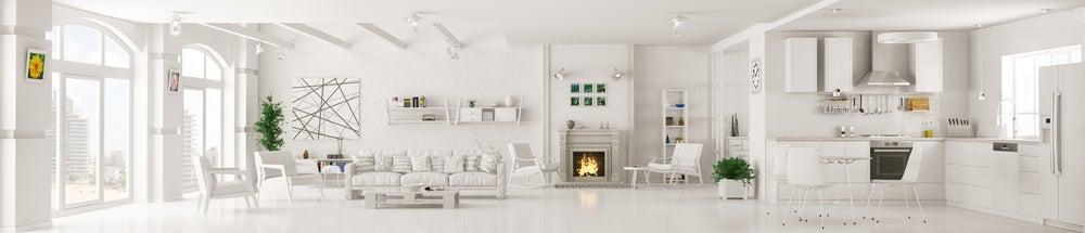 Casa completamente blanca.