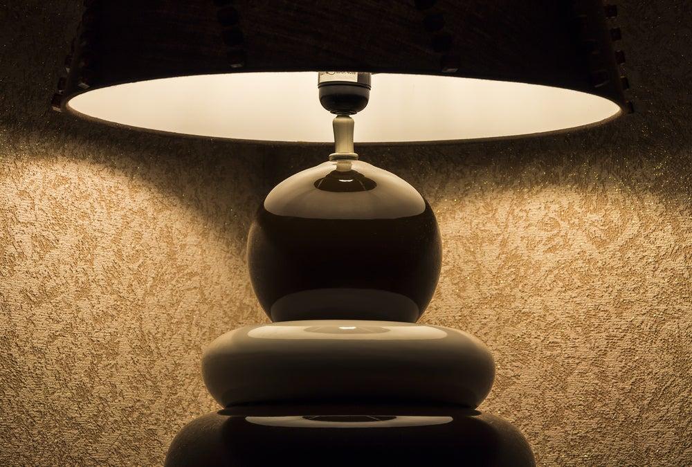 Lámpara futurista.