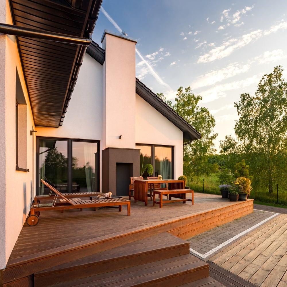 Terraza de madera.